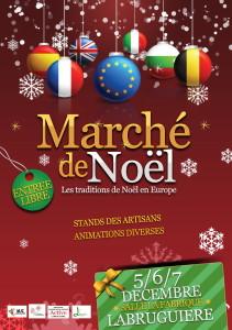 AFFICHE marché de noël Labruguière 2014